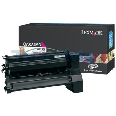 LEXMARK C780 X782 TONER CARTRIDGE MAGENTA 6K